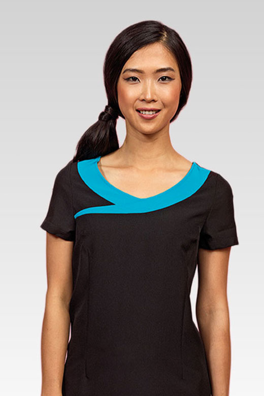 Premier Workwear Ivy Beauty And Spa Tunic Contrast Neckline